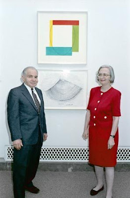 Art collectors Herbert and Dorothy Vogel. Lorene Emerson. National Gallery of Art, 1992.