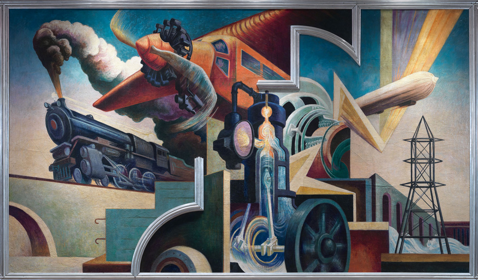 Thomas Hart Benton, Instruments of Power, one of the ten panels in the American Today mural.