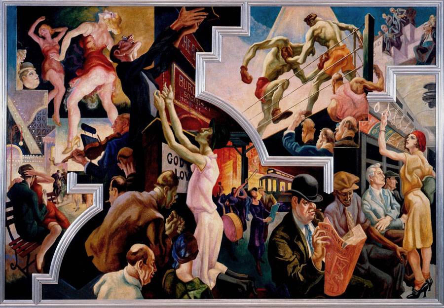 "Thomas Hart Benton City Activities with Subway, from ""America Today"". The Metropolitan Museum of Art, New York, Gift of AXA Equitable, 2012."