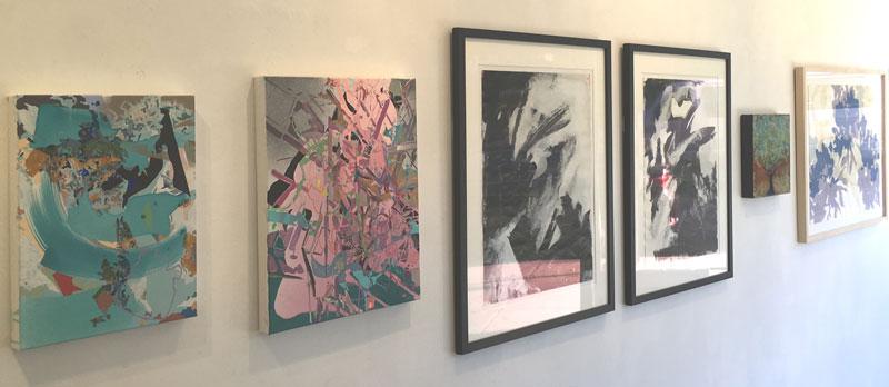 "Installation shot from Elisa Contemporary Art exhibition ""26 Under 25""."
