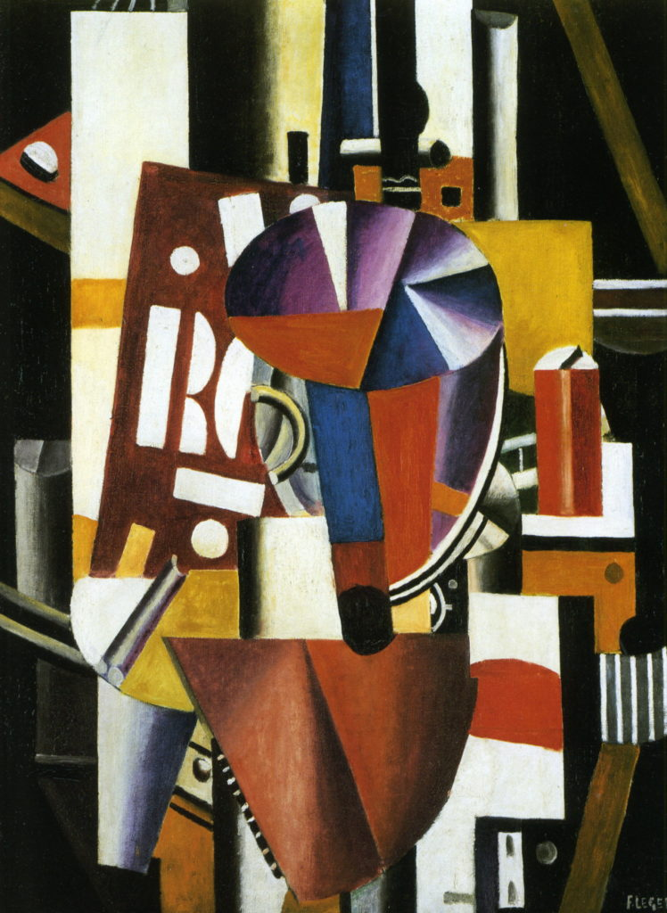 Fernand Léger (French, 1881–1955). Composition (The Typographer), 1918–19. Oil on canvas; 98 1/4 x 72 1/4 in. (249.6 x 183.5 cm). The Metropolitan Museum of Art, New York, Promised Gift from the Leonard A. Lauder Cubist Collection © 2014 Artists Rights Society (ARS), New York / ADAGP, Paris.